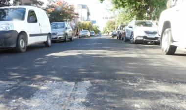 Se repavimentaron calles en distintos sectores de la ciudad