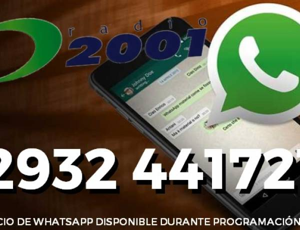 Ahora vas a poder comunicarte con los programas más fácilmente, llegó WhatsApp a la 2001